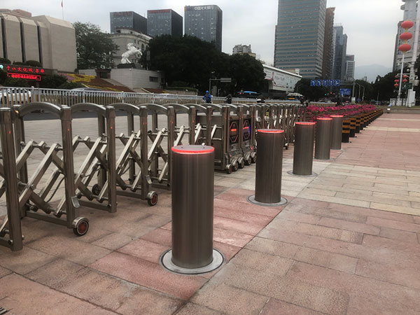 Upark Automatic Bollard Case Show
